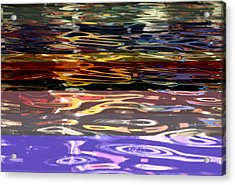 The Colorful Riverwalk Is Reflected Acrylic Print by Stephen St. John
