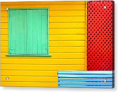 The Colours Of Caminito Acrylic Print by by Felicitas Molina