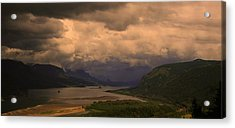The Columbia River  Looking Up Stream Acrylic Print