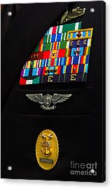 The Command Master Chief Badge Acrylic Print by Stocktrek Images