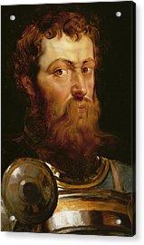 The Commander's Head  Acrylic Print by Peter Paul Rubens
