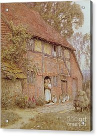 The Cottage With Beehives Acrylic Print by Helen Allingham