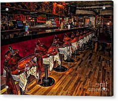 The Cowboy Bar Acrylic Print