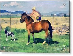 The Cowboy Acrylic Print by Odon Czintos