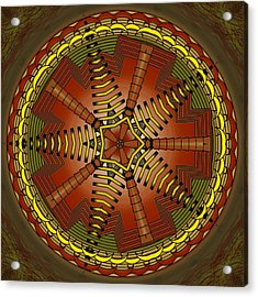 Acrylic Print featuring the digital art The Crescents And Wiry Star by Mario Carini