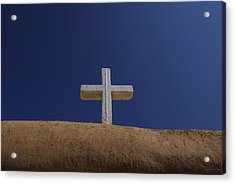 The Cross Above Saint Francis Catholic Acrylic Print by Raul Touzon