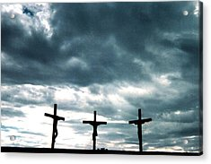 The Crosses At Groom Acrylic Print by Ed Golden