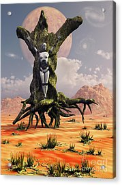 The Crucifixion Of A Messianic Martyr Acrylic Print
