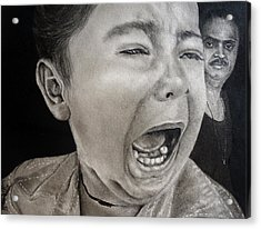 The Crying Child Acrylic Print by Mickey Raina