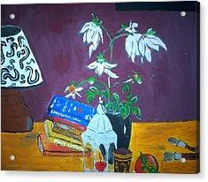 The Dahlia Tree Acrylic Print by Julie Butterworth