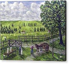 The Dairy Farm Acrylic Print by Ronald Haber