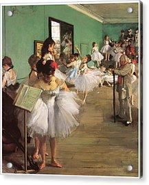 The Dance Class Acrylic Print by Edgar Degas