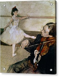 The Dance Lesson Acrylic Print by Edgar Degas