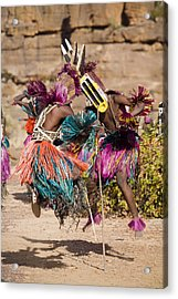 The Dance Of The Masks In Begnimato Acrylic Print by Matthew Schoenfelder