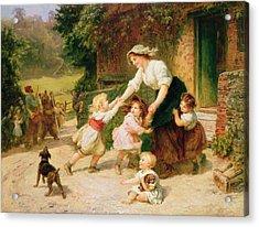 The Dancing Bear Acrylic Print by Frederick Morgan