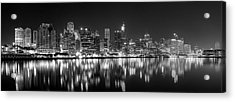 The Dark Side Of Town Acrylic Print by Mark Lucey