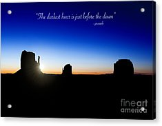 The Darkest Hour..... Acrylic Print by Jane Rix