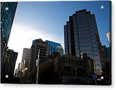 Acrylic Print featuring the photograph The Day Begins Vancouver Canada by JM Photography
