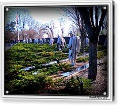 Acrylic Print featuring the photograph The Dc War Memorials Washington  D.c. by Danielle  Parent