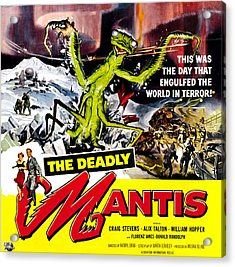 The Deadly Mantis, 6-sheet Poster Art Acrylic Print by Everett