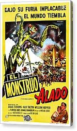 The Deadly Mantis, Aka El Monstruo Acrylic Print by Everett