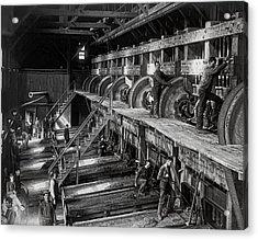 The Deadwood Terra Gold Ore Stamp Mill C. 1888 Acrylic Print by Daniel Hagerman