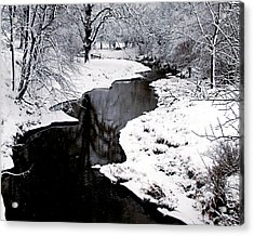 The Deep And Snowy Creek Acrylic Print by Kimberleigh Ladd