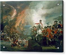 The Defeat Of The Floating Batteries At Gibraltar Acrylic Print by John Singleton Copley