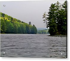 The Delaware River Acrylic Print by Bill Cannon