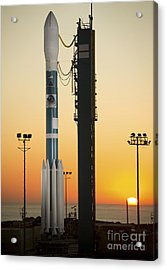 The Delta II Rocket On Its Launch Pad Acrylic Print by Stocktrek Images