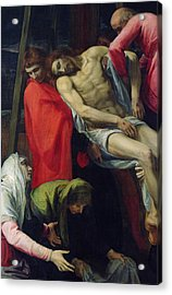 The Descent From The Cross Acrylic Print by Bartolome Carducci
