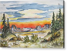 The Desert Long Forgotten-wcs Acrylic Print by Cheryl Pettigrew