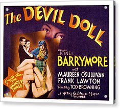 The Devil Doll, Frank Lawton, Maureen Acrylic Print by Everett