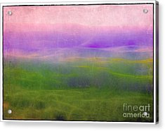 The Distant Hills Acrylic Print by Judi Bagwell