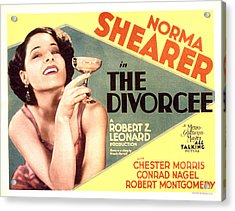 The Divorcee, Norma Shearer, 1930 Acrylic Print by Everett