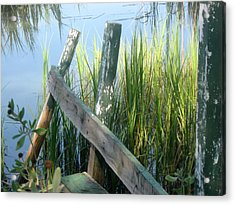 The Dock Acrylic Print by Juliana  Blessington