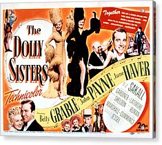 The Dolly Sisters, Betty Grable, June Acrylic Print by Everett