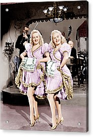 The Dolly Sisters, From Left Betty Acrylic Print by Everett