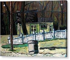 The Doug House Acrylic Print by Charlie Spear