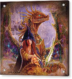 Acrylic Print featuring the painting The Dragon Master by Steve Roberts