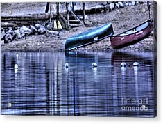 Acrylic Print featuring the photograph The Dramatic Canoe Scene by Janie Johnson