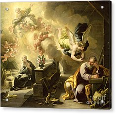 The Dream Of Saint Joseph Acrylic Print by Luca Giordano