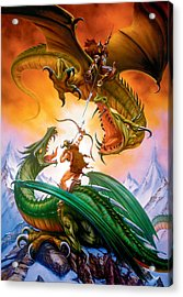 The Duel Acrylic Print by The Dragon Chronicles