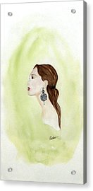 Acrylic Print featuring the painting The Earring by Alethea McKee