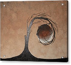 Acrylic Print featuring the painting The Earth Element by Edwin Alverio