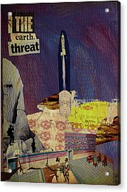 The Earth Threat Acrylic Print by Adam Kissel