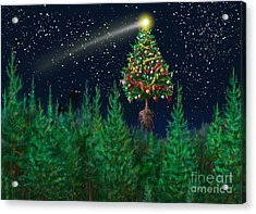 The Egregious Christmas Tree Classic Landscape Acrylic Print by Russell Kightley