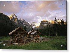The Elizabeth Parker Hut, A Log Cabin Acrylic Print by Michael Melford