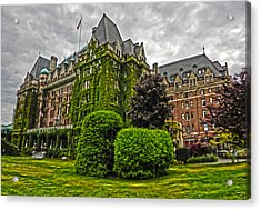 The Empress Hotel On Victoria Island Acrylic Print by Gregory Dyer