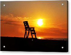 The End Of The Summer Acrylic Print by Bill Cannon